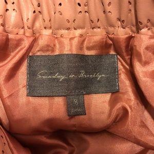 Anthropologie Skirts - Anthropologie Vegan Leather Skirt sz 8 muted Pink